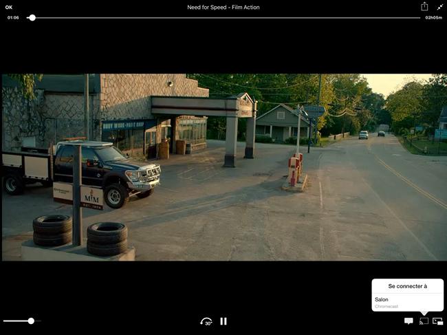 Envoyer le flux vidéo sur l'appareil Chromecast depuis l'application iPad