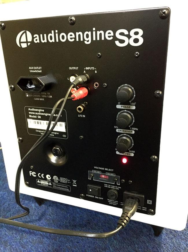 Mes réglages pour le test du caisson de basses Audioengine S8