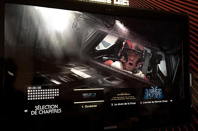 Dune HD Solo 4K : affichage complet des menus pour une copie ISO Blu-ray