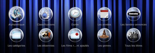 L'interface Riplay sur un lecteur Dune HD Solo 4K pour l'accès aux films stockés dans le serveur