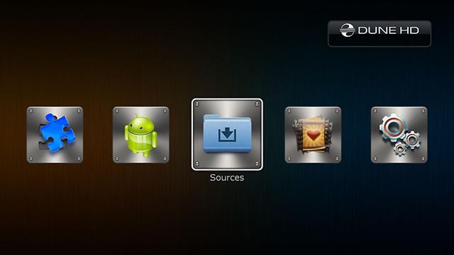 L'interface du Dune HD Solo 4K