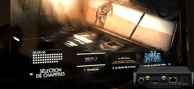 Test du lecteur Dune HD Solo 4K avec lecteur et menu Blu-ray