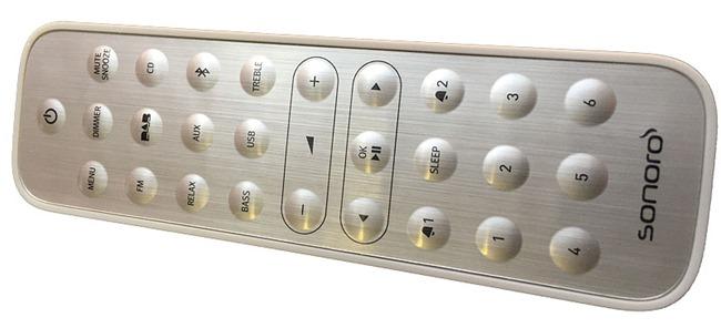 Télécommande à la finition métal avec les touches de mémorisation des radios