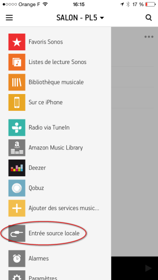 Configuration dans l'application Sonos pour l'écoute de YouTube