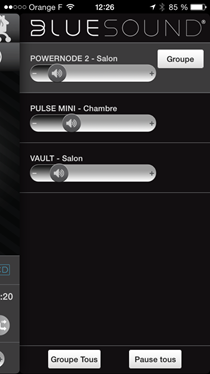Le choix du lecteur et les fonctions multiroom audio