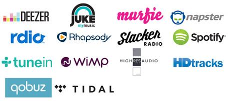 Les services de streaming musicaux disponibles sur les lecteurs Bluesound