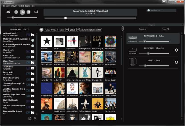 Depuis un ordinateur Windows, le pilotage de toutes les lecteurs audio HiFi