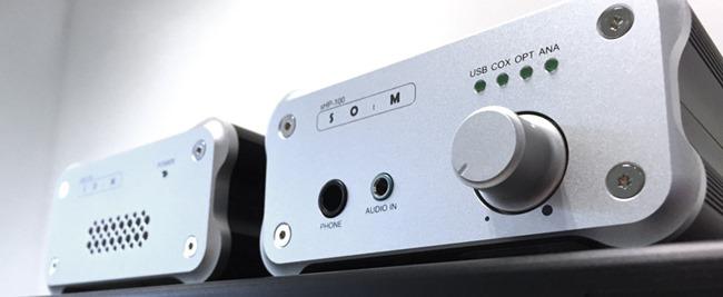 Système HiFi avec un lecteur SOtM sMS-100 et un DAC SOtM sHP-100