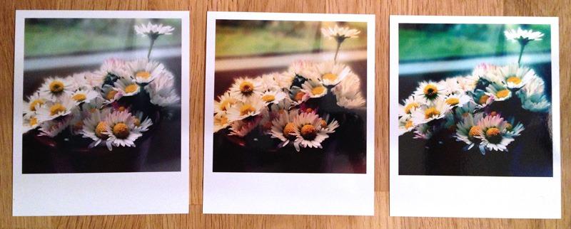 Le résultat : sur papier au format Polaroid