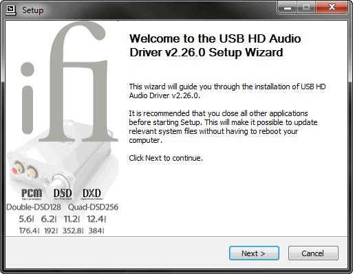 Installation du driver audio du DAC iFi Audio iDSD Nano sur un ordinateur sous Windows