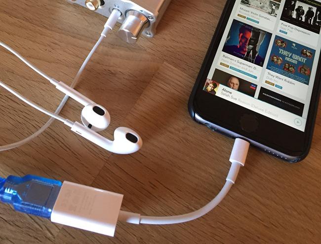 Test d'écoute avec l'application Qobuz et des fichiers en qualité CD et HD