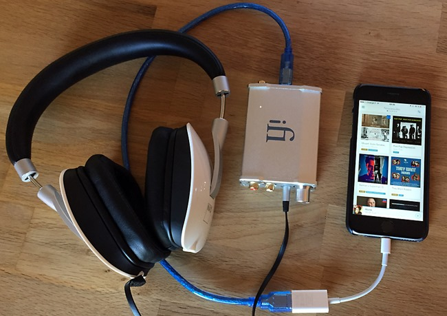 Test du DAC iFi Audio iDSD Nano sur un iPhone avec le casque NAD VISO HP 50