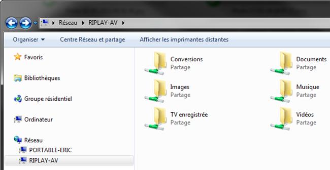 Accès à l'espace de stockage du Riplay depuis un ordinateur sous Windows