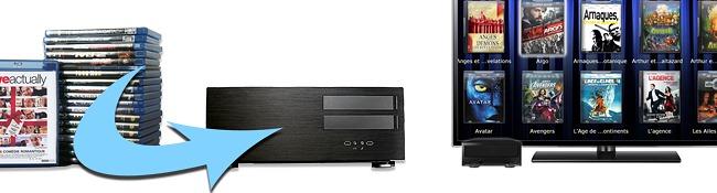 Supprimer ses disques DVD et Blu-ray et les stocker sur serveur vidéo de films