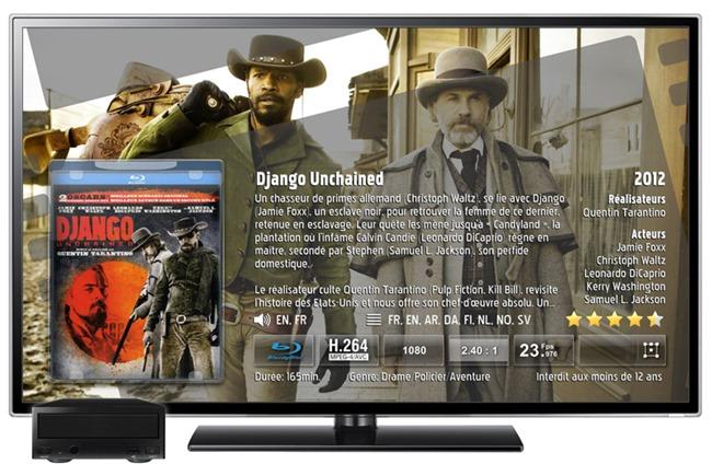 Affichage des détails des films DVD et Blu-ray sur tous les écrans TV