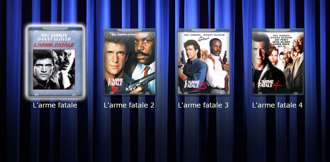Affichage des films copiés sur le Riplay - version Blu-ray
