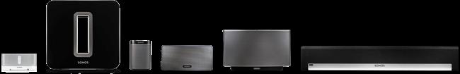 La gamme complète Sonos