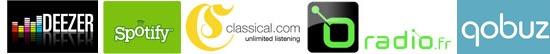 Lire les services de musique en ligne sur une chaine HiFi