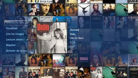 Choisir ses musiques dans l'audiothèque Media Center