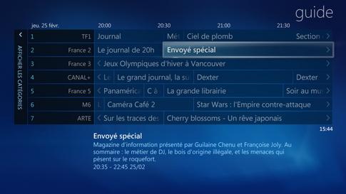 Guide des programmes TV TNT HD