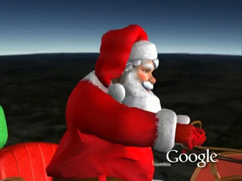 traineau-père-noël-google-earth