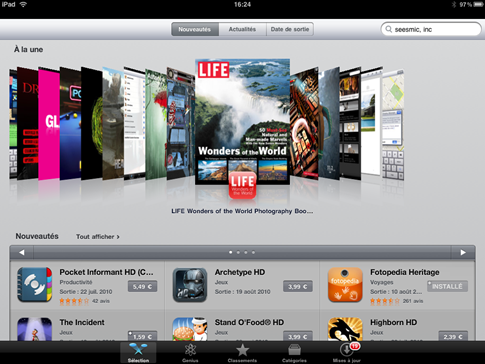 AppStore iPad