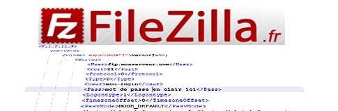 Les mot de passe stockés en clair dans FileZilla