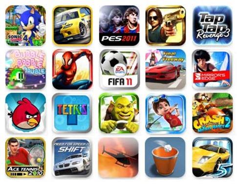 App Store d'Apple, un large choix de jeux vidéo