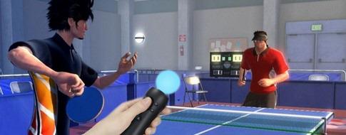 playsation move ping pong simulation
