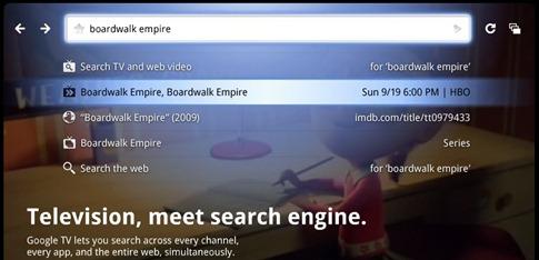 Google TV - Internet sur la télévision