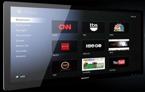 Google TV - web sur la télévision