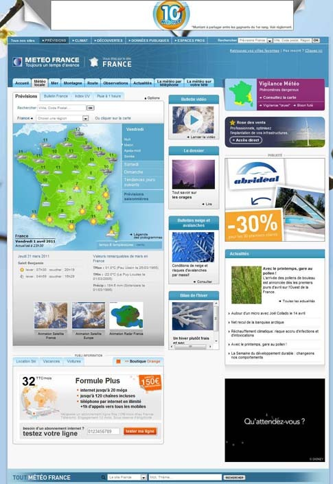 site web meteo france