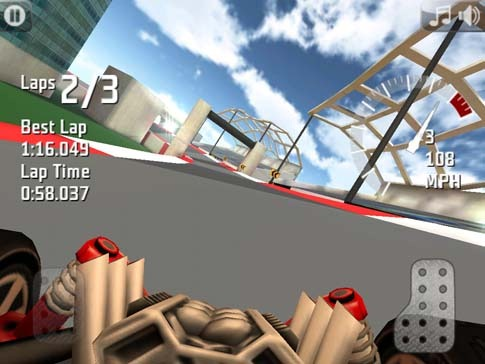 Stunt car sur iPad