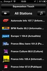 Choisir sa web radio depuis l'iPhone
