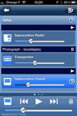 Gérer le volume sonore de toutes les Squeezebox