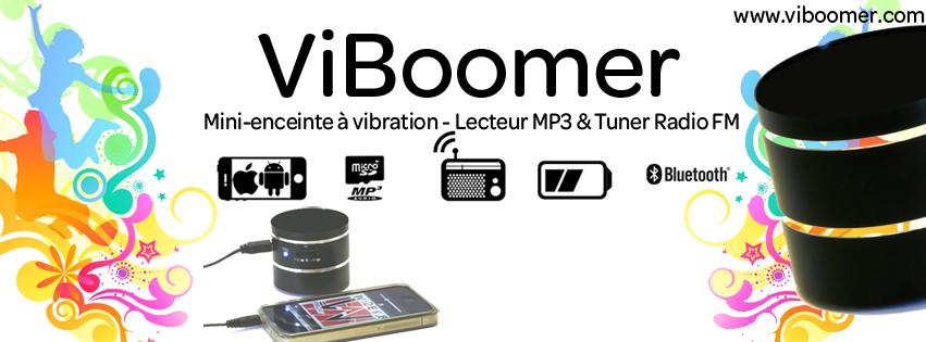 Enceinte vibrante pour téléphone, tablette tactile avec lecteur MP3 intégré et tuner FM