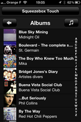 L'application iOS Squeezebox par Logitech