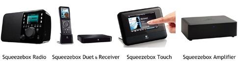 les lecteurs réseau sans fil Squeezebox