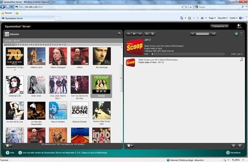 Accès aux Squeezebox depuis un navigateur Web