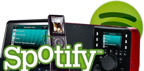Spotify sur Squeezebox Radio