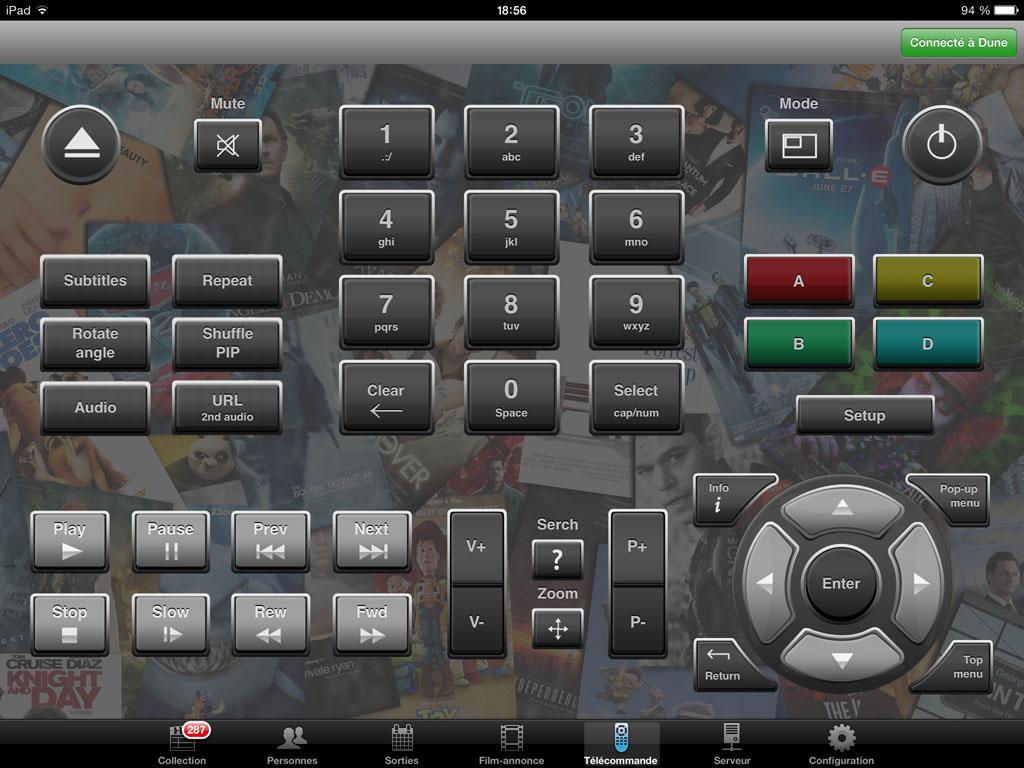 Télécommande universelle sur iPad