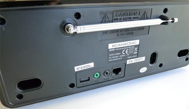 Poste radio WiFi avec port USB, prise casque, entrée audio