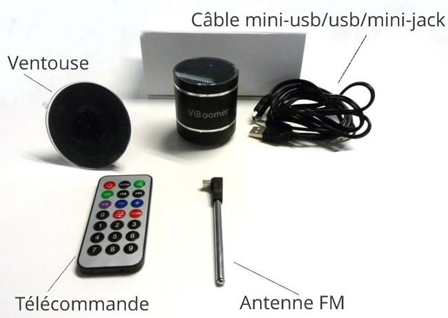 Mini-enceinte vibrante tout compris : Bluetooth, MP3 et FM