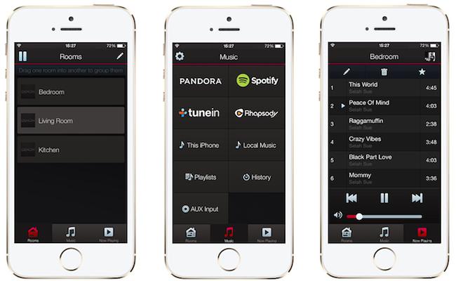 Application Denon Heos multiroom audio