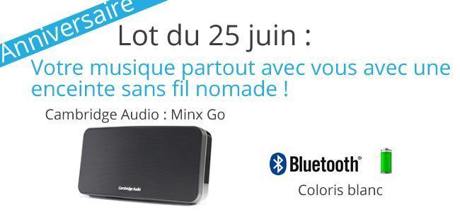 Enceinte Bluetooth Minx Go à gagner