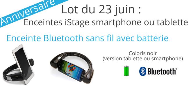 Enceinte Bluetooth sans fil pour smartphone ou tablette à ganger