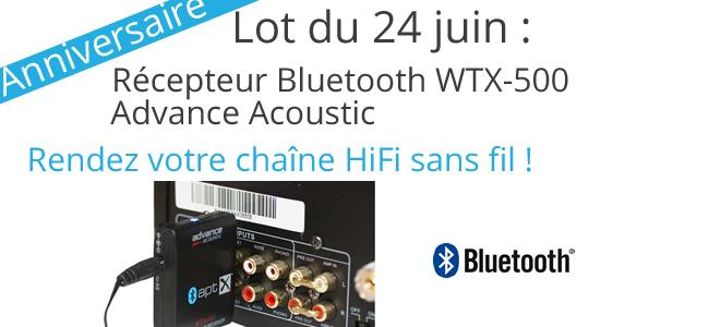 Récepteur Bluetooth pour rendre la chaîne HiFi sans fil