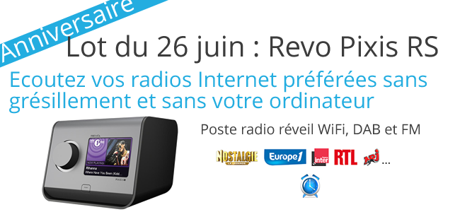 Poste radio Web Revo Pixis RS à gagner