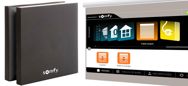 Test de la box domotique Somfy et son application Tahoma