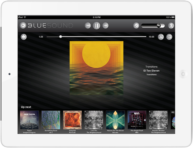 Application Bluesound pour smartphone et tablette
